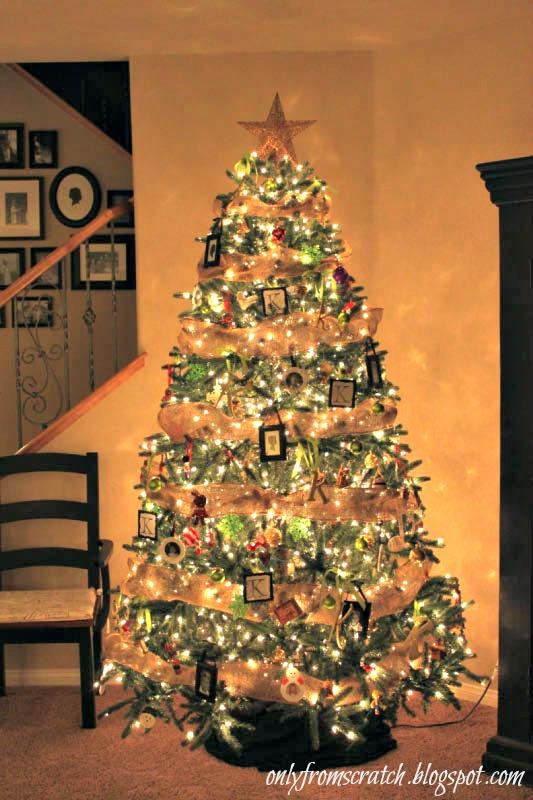 classy christmas tree - Burlap Christmas Tree Garland