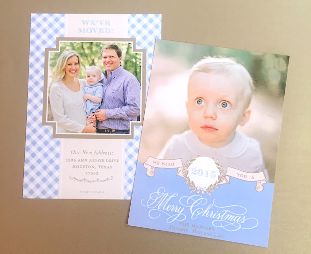 Custom Holiday Card Gingham