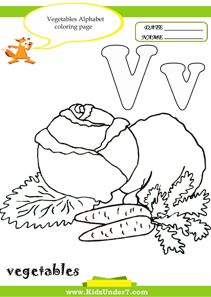 Kids Under 7 Letter V Worksheets and Coloring Pages – Letter V Worksheets for Kindergarten