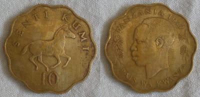 tanzania 10 senti 1977
