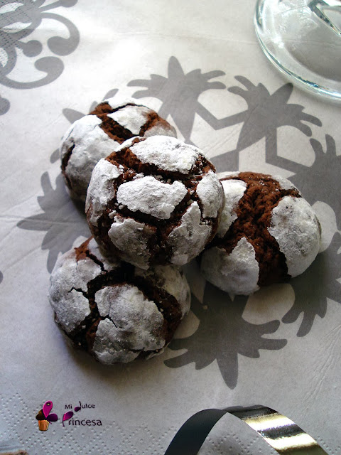 chocolate, crinkles, crinkles de chocolate, galletas, galletas de chocolate, navidad, cookies,