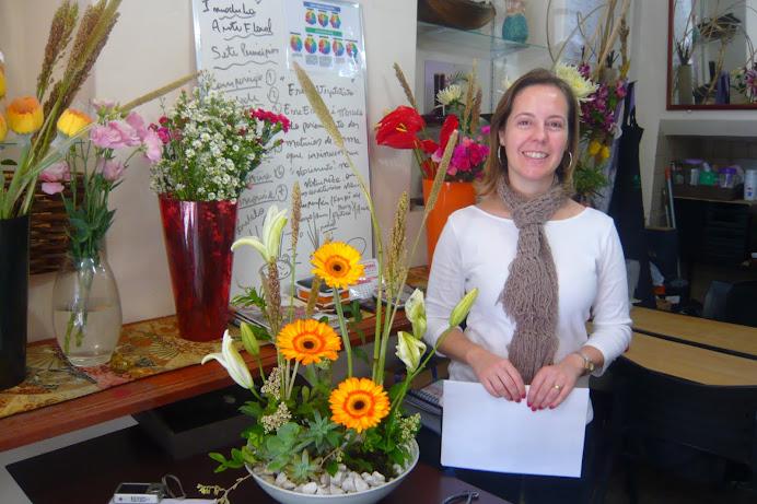 Curso de Arte Floral , Sede - SP , Aluna Renata .