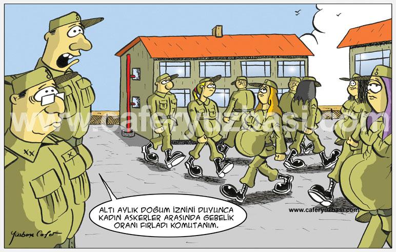 doğum izni-Kadinlar Asker Olursa?