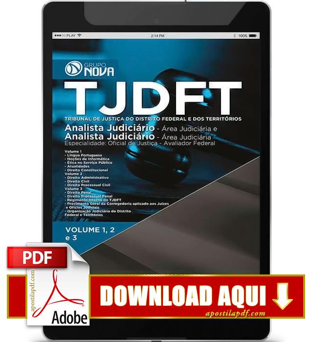 Apostila TJDFT 2015 Analista Judiciário Oficial de Justiça PDF Download