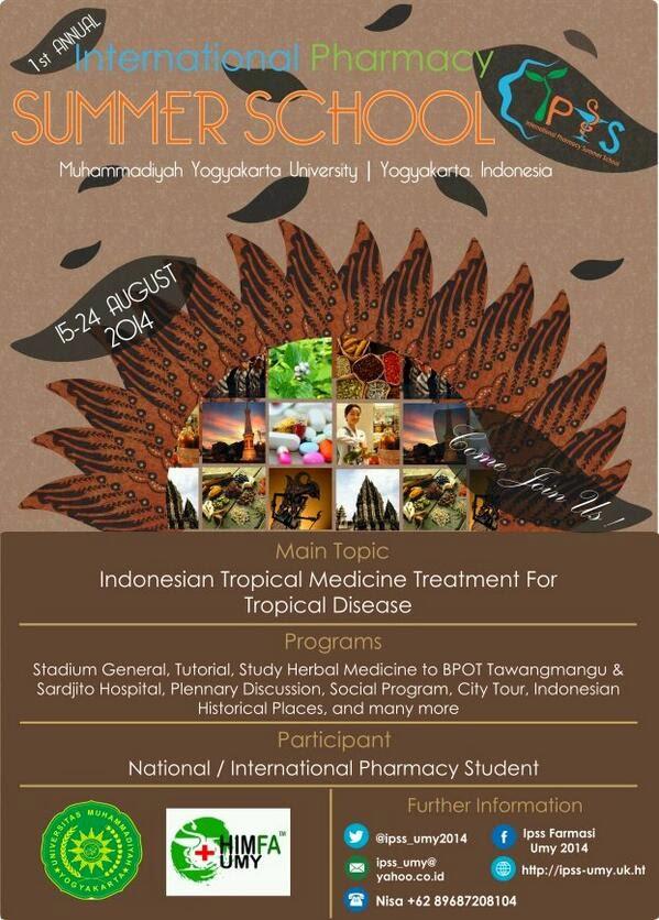 "Penyelenggaraan ""International Pharmacy Summer School"" oleh Universitas Muhammadiyah Yogyakarta"