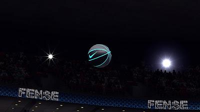 NBA 2K13 Outdoor Black Nike Basketball Blue Outline