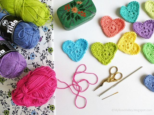 My Rose Valley Sweet Heart Crochet Pattern