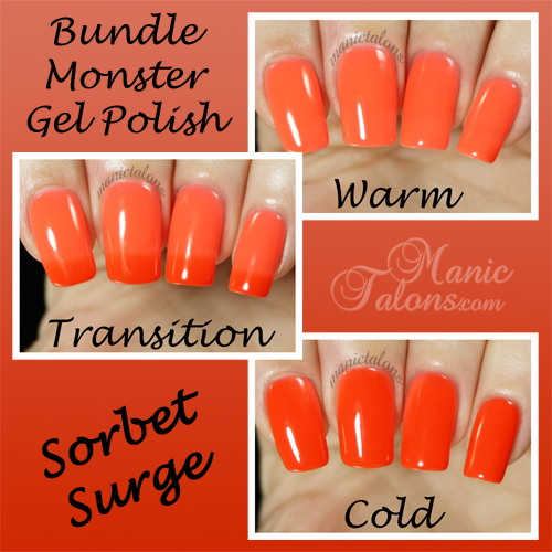 Bundle Monster Gel Polish Sorbet Surge Swatch - BMC Awakening Collection