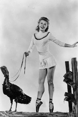 Vera Ellen with turkey