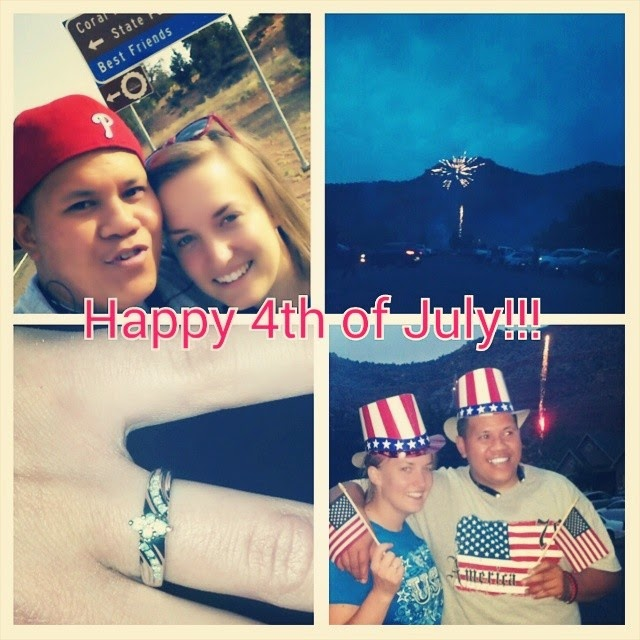 We Got Engaged on July 4, 2014