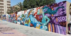 22.05.17 NUEVO ARTÍSTICA GRAFFITI EN EL MURAL JUNTO AL AMBULATORIO DE MANISES