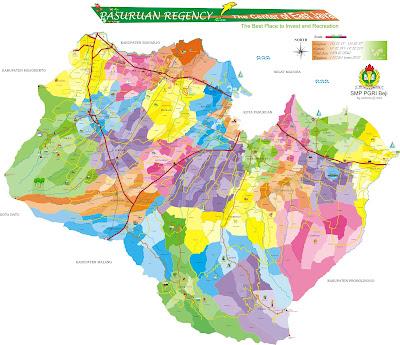 Peta Kabupaten Pasuruan