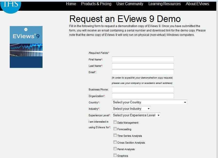 eviews 9 serial number free