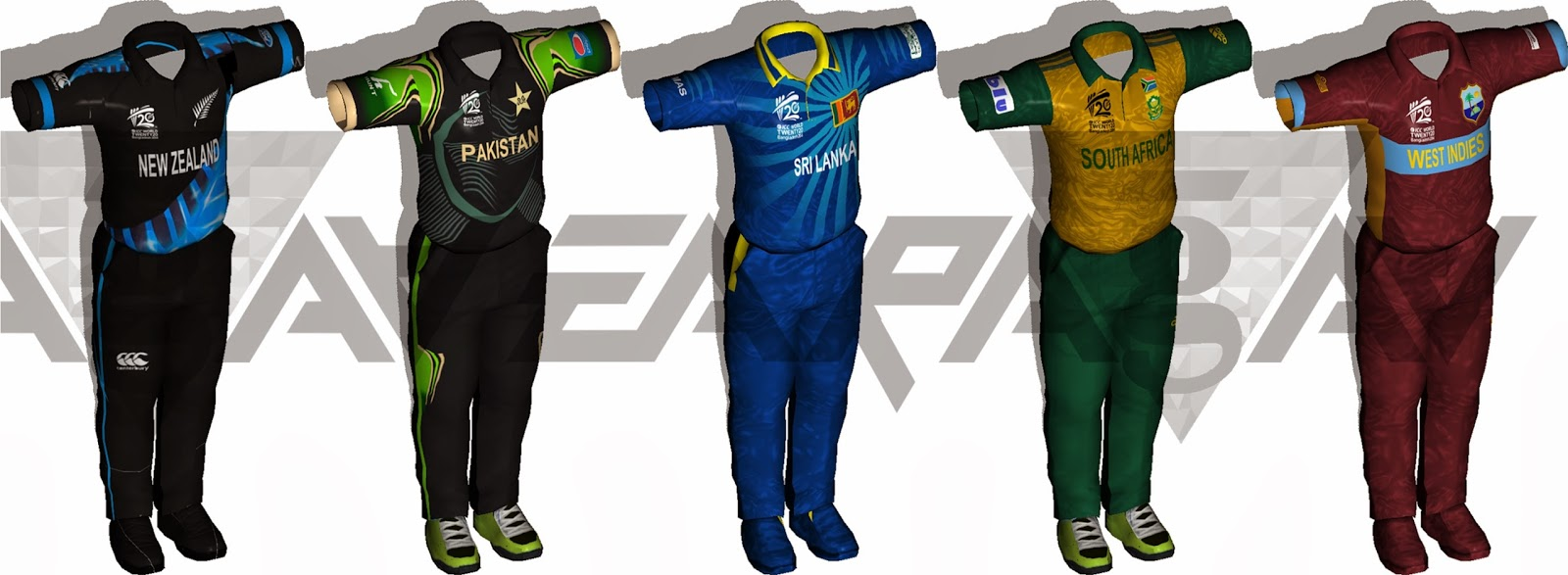 ICC T20 World Cup 2014 Kitspack for EA Cricket 07