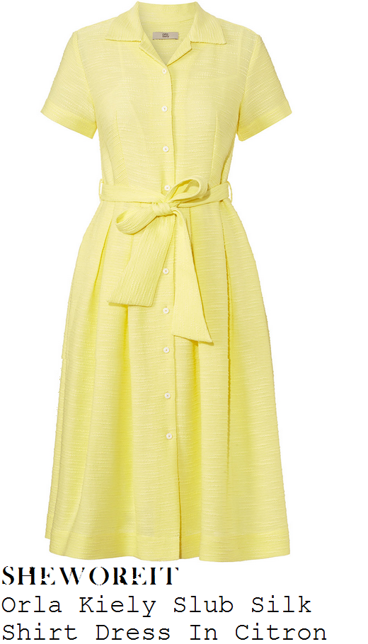 michelle-keegan-lemon-yellow-short-sleeve--neck-button-up-midi-dress-chatty-man