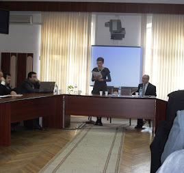 Zilele UAIC, aspect din timpul comunicării Prof. univ. dr. Maria Magdalena Szekely, 26.10.2012..