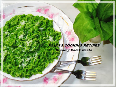 Simple Healthy Creamy Cheese Palak Green Vermiglioni Pasta Recipe
