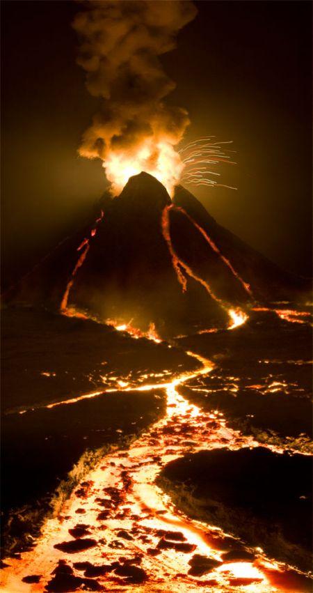 Matthew Albanese fotografia set designer maquetes modelos miniaturas hiper realistas Ponto de ruptura - vulcão