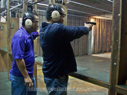 the staff supervising bf as he fired the pistol