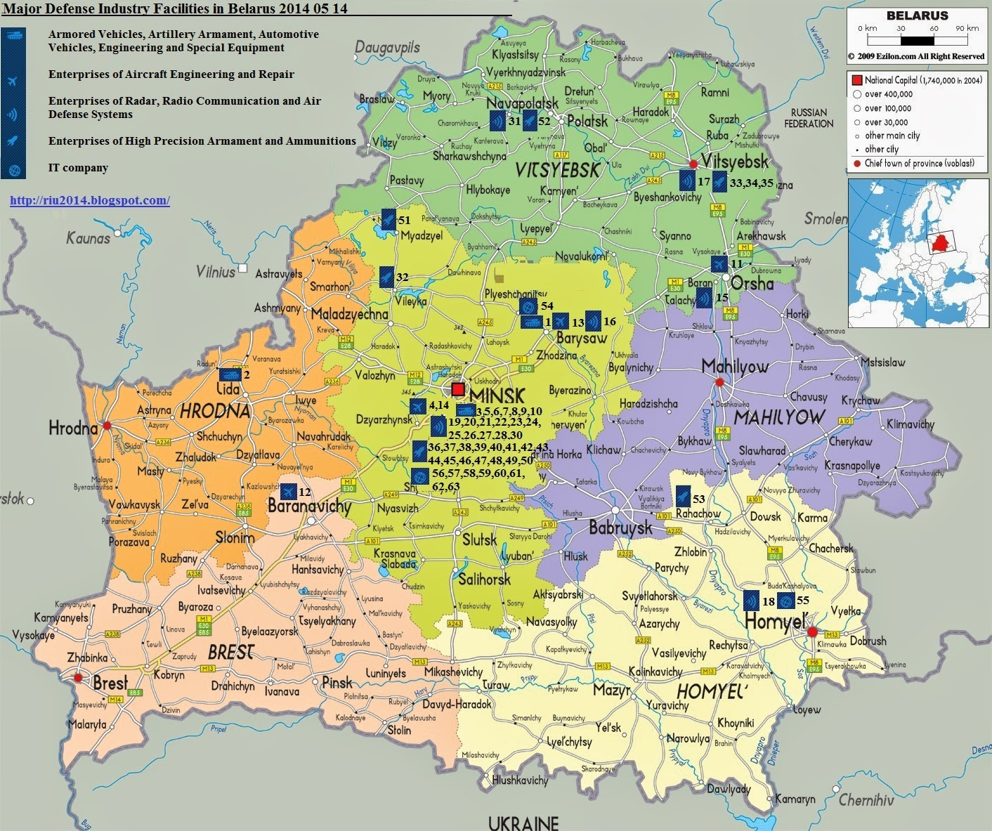 maps of retailers in donbass ukraine east