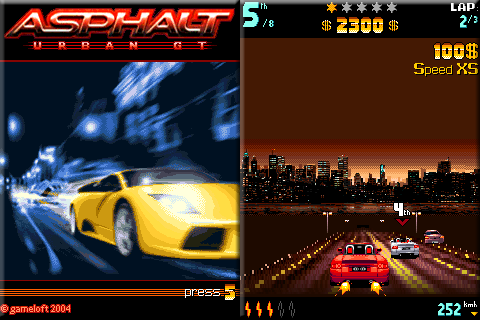 Asphalt 240 x 320 Touchscreen Mobile Java Game
