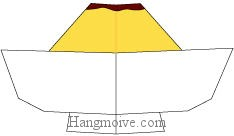 Bước 10: Tô màu để hoàn thành cách gấp que kem caramel theo phong cách origami.