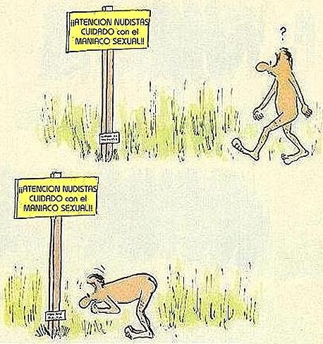 humor nudista