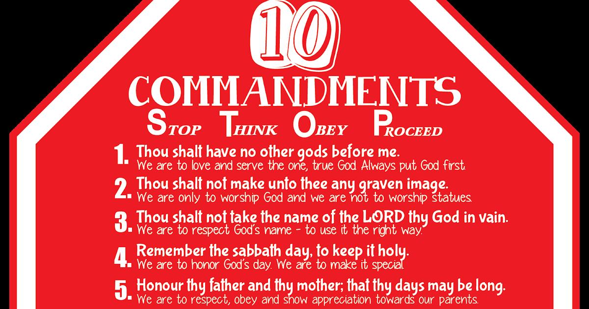 Creative Sunday School Crafts: Ten Commandments Visual - STOP Sign