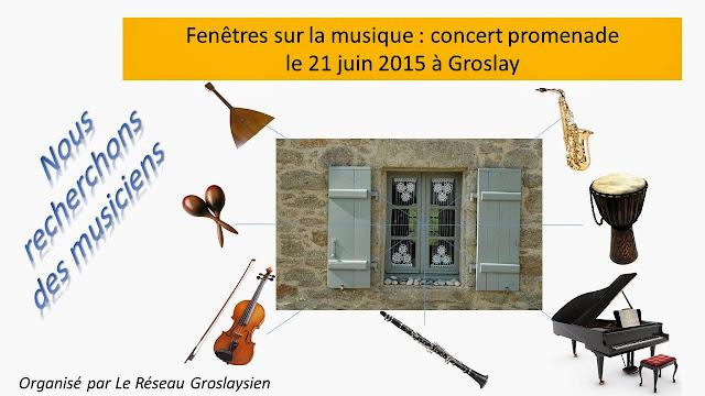 Fête de la musique avec le Réseau Groslaysien
