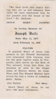 Joseph Haitz Funeral Card