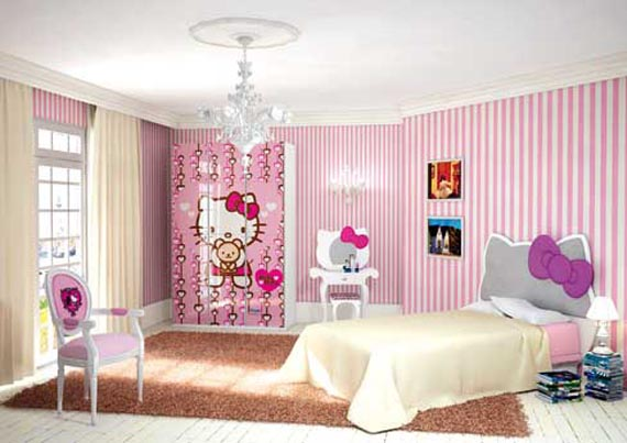 Hello Kitty Themes Ideas Kids Bedroom Decorating Inspirations ...