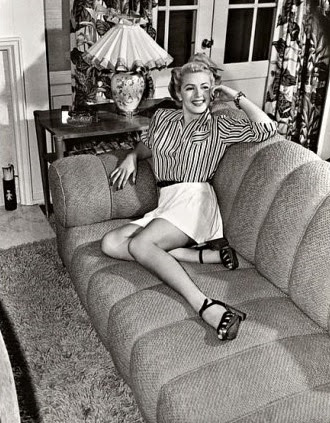Lana Turner at home.