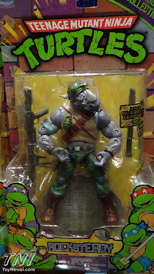 Playmates Teenage Mutant Nunja Turtles Classics Rocksteady Packaged Figure - Power-Con Display