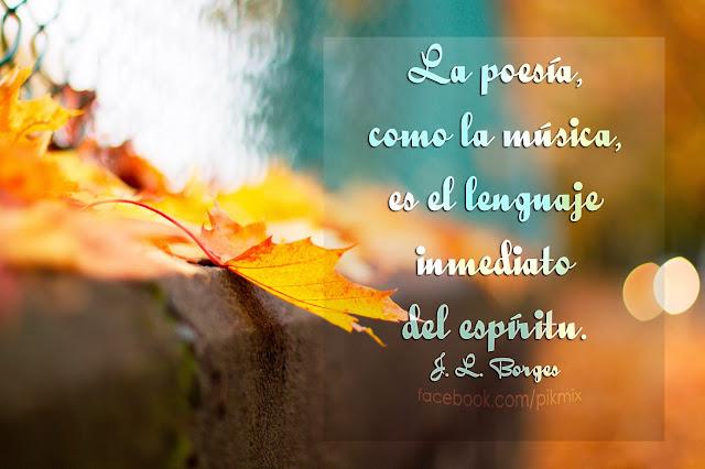 Lenguaje del espíritu: J. L. Borges ● Frases  ●Hoja, otoño