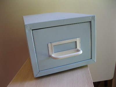vintage file drawer