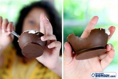 Buat Mangkuk Coklat Menggunakan Belon