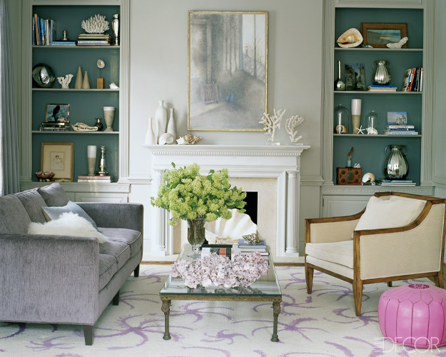 Baby green accent shells for Living room dc