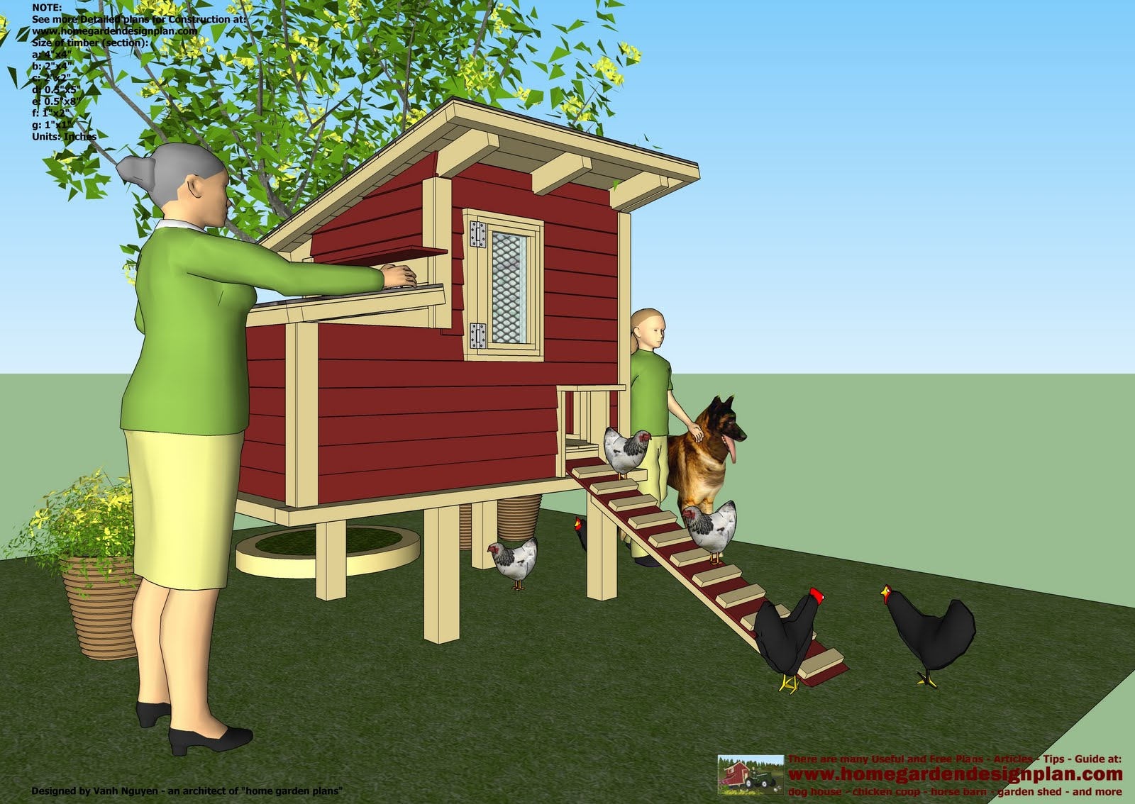 Coop qu useful chicken coop plans free download for Chicken ark plans free download