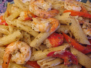 Penne aux crevettes et au homard Viviane