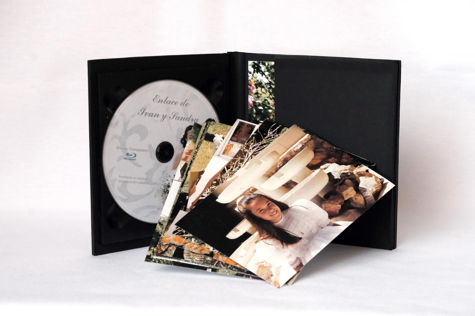 Estuche para DVD + fotos desplegado