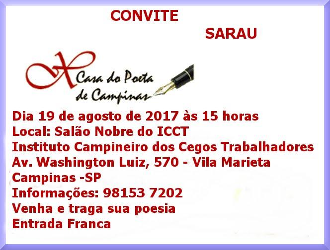 convite sarau de agosto