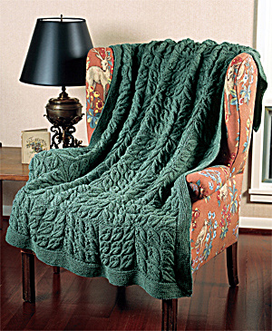 FREE KNITTING PATTERN THROW OR AFGHAN - VERY SIMPLE FREE ...