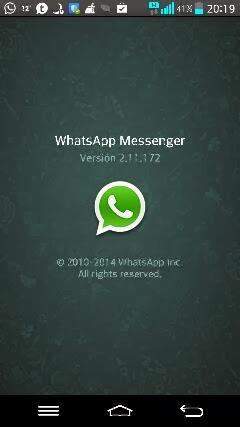 Nueva versión de la aplicación de Whatsapp 2.11.172