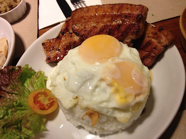 Bacon Slabs with Eggs and Bacon Rice by Poco Deli