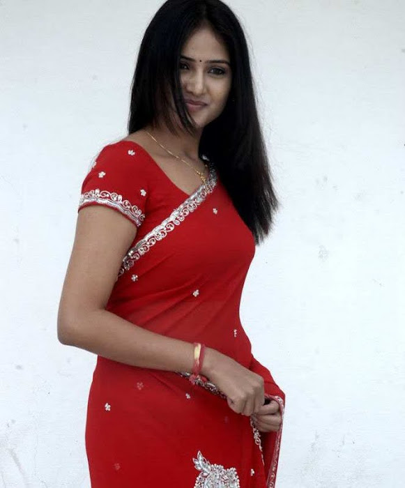 sony charishta red saree actress pics