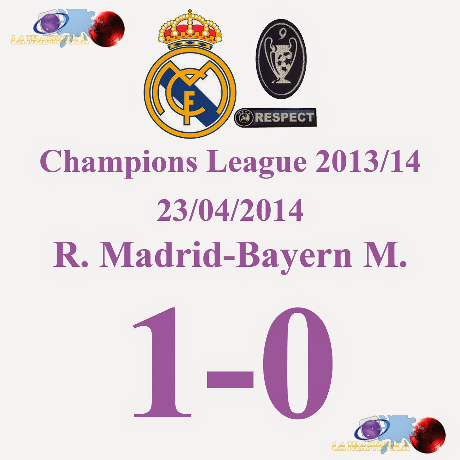 Karim Benzema (1-0) Semifinales de Champions League - 23/04/2014