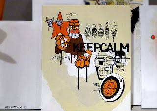 """Peinture """"Keepcalm (Jean-Pierre)"""" - acrylique sur toile"""