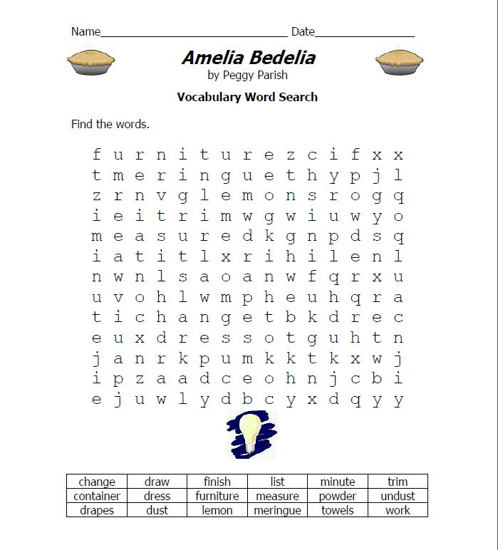 10th Grade Personal Project March 26th Amelia Bedelia