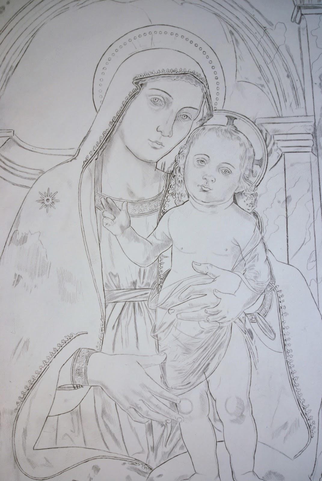 Francesco Astiaso Garcia Pittore E Artista Disegno Madonna Della Rota