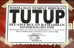Larangan Beroperasinya Tempat Hiburan Di Kota Tangerang Selatan Selama Bulan Puasa